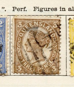 Queensland 1897 Early Issue Fine Used 3d. NW-113705