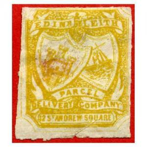 Circular Delivery SGCD16 Edinburgh and Leith 2d yellow bistre unused