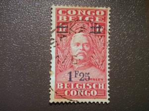 Belgian Congo, 1931, 1.25 on 1Fr used 50th Anniv of Stanley´s Exploration of...