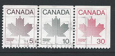 Canada SG 1033/34/36 se tenant  VFU booklet  imperf