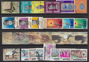 MALAYSIA  ^^^^sc# 71//234  used  collection ( TOPICALS ++)  $$ @ lar 1108mal