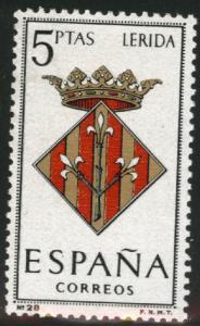SPAIN Scott 1072 MNH** Lerida Coat of Arms