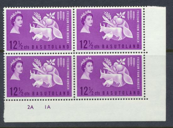 Basutoland  SG 80  Mint never Hinged - block of 4- Freedom from Hunger