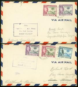 EDW1949SELL : GAMBIA 2 Scarce 1941 & 1942 covers.