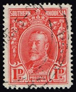 Southern Rhodesia #17 King George V; Used (0.25)