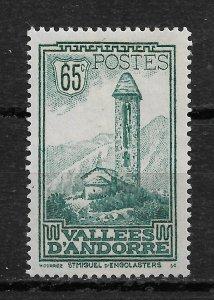 French Andorra 1932, Scott # 41, 65c,VF MVLH*OG (FR-1)