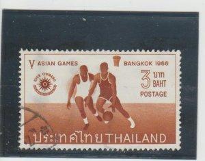 Thailand  Scott#  448  Used  (1966 Netball)