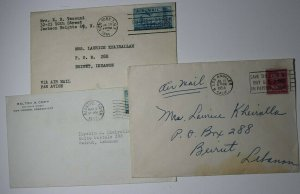US Airmail Coverlet to Beirut Lebanon 1954 Sc# 829 C36