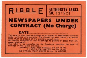 (I.B) Cinderella : Private Carrier - Ribble (Newspapers)