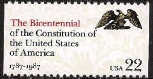 2355 The Constitution of USA F-VF MNH single from booklet