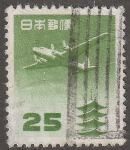 Japan stamp, Scott# c-16, used, hinged, airmail, plane