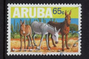 Aruba   #168  used  1999   endangered animals  65c