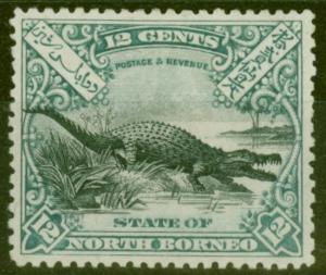 North Borneo 1897 12c Black & Dull Blue SG106 P.13.5-14 Mtd Mint