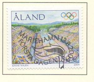 Aland Finland Sc 226 2004 Athens Olympics  stamp used