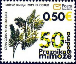 MONTENEGRO/2019 - 50th anniversary of the Mimosa Festival (Flora), MNH