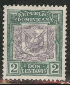 Dominican Republic Scott 126 Used 1901 Coat of arms stamp