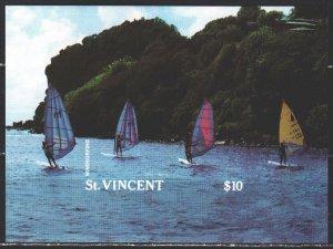 Saint Vincent and the Grenadines. 1988. bl 57B. Windsurfing, tourism. MNH.