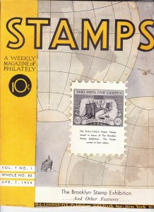 Stamps Weekly Magazine of Philately April 7, 1934 Stamp Collecting Magazine