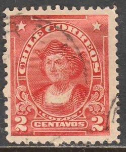 Chile 113, 2¢ Columbus. Used. F. (555)