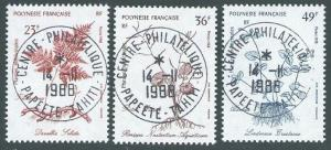 FRENCH POLYNESIA 1988 Plants set used, SG cat £15..........................12006