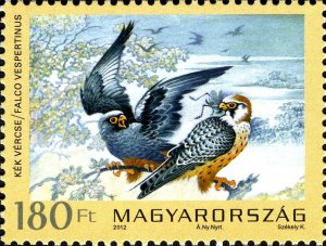 Hungary 2012 Red-footed Falcon (Falco vespertinus) mint**