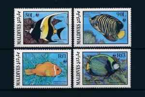 Maldives MNH 1185-9 Fish WWF 1986