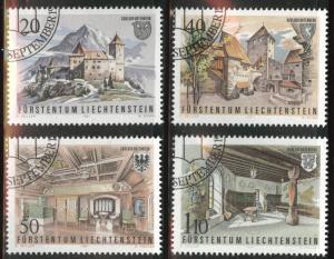 LIECHTENSTEIN Scott 718-721 Used CTO 1981 Castle set