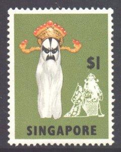 Malaya Singapore Scott 95 - SG112, 1968 Masks & Dancers $1 MNH**