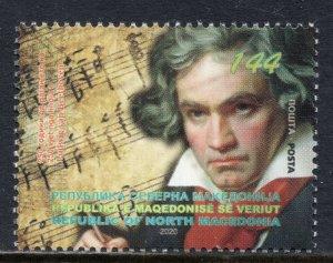 368 - NORTH MACEDONIA 2020 - Ludwig van Beethoven - Musics - Composer - MNH Set