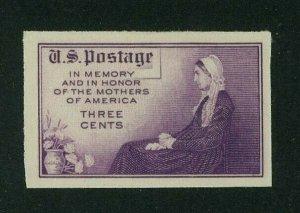 US 1935 3c deep purple Mothers Imperf, Scott 755 Mint NGAI, Value = 60c