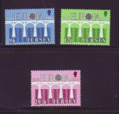 Jersey Sc 326-8 1984 Europa stamps  mint NH
