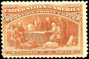 1893 US Stamp #239 Mint Original Gum Columbian Expo Catalogue Value $215