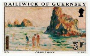 (I.B) Guernsey Postal : Paintings of Renoir 3p (proof)