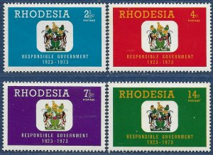 Rhodesia sg 484-7 MH 1973 set of 4 Responsible Government