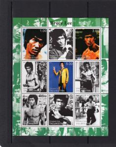 Tajikistan 2000 BRUCE LEE Hong Kong and American Actor Sheetlet (9) MNH