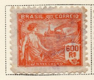 Brazil 1920-21 Early Issue Fine Used 600r. NW-12022