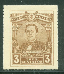 MEXICO 502, 3¢ GEN. IGNACIO ZARAGOZA. MINT, NH. VF.