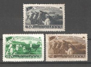 Russia/USSR 1948,Soviet Agriculture, 5-Year Plan, Horses,Sc # 1265-1267,VF MNH**