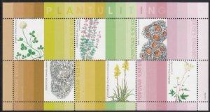 Faroe Islands 2017 MNH Sc #677 Sheet of 6 Natural Dyes