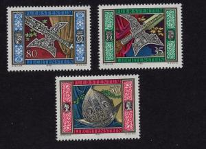 Liechtenstein  #826-828  1985  MNH Guard`s weapons and armour