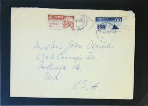 Norway 1961 Cover to USA - Z3132