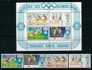 Kenya - Munich Olympic Games MNH Set (1972)