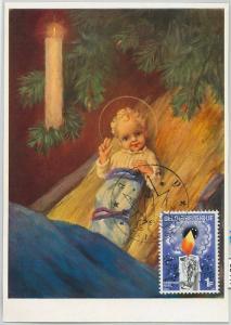 63417 -  BELGIUM - POSTAL HISTORY: MAXIMUM CARD 1968 -  ART Christmas