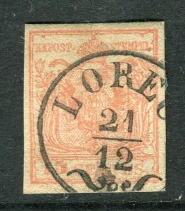 AUSTRIA; LOMBARDY 1850 early classic Imperf issue fine used 15c. fine cancel