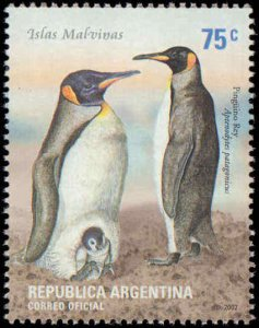 2002 Argentina #2180-2183, Complete Set(4), Never Hinged