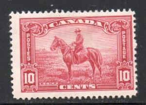 Canada Sc 223 1935 10 c Mountie on Horse stamp mint