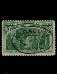 Scott #243 F/VF-used. SCV - $750.00