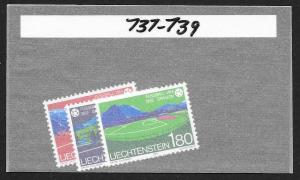LIECHTENSTEIN Sc#737-739 Complete Mint Never Hinged Set