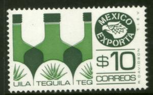 MEXICO Exporta 1125b $10P Tequila Fluor Paper 7 MINT, NH. VF.