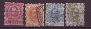 J24754 JLstamps 1891-6 italy used #68-71 king
